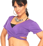 Comfy Short Sleeve Choli Dance Top - PURPLE