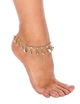 Imported Yin Yang Anklet with Ghungroo Bells - GOLD