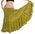 25 Yard Tribal Gypsy Skirt - OLIVE GREEN