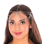 Chains & Rhinestones Deco Head Piece - SILVER