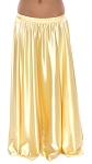Satin Belly Dance Costume Skirt - LIGHT GOLD
