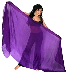 Silk Belly Dance Veil - PURPLE