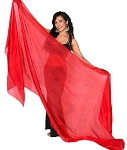 Silk Belly Dance Veil - RED