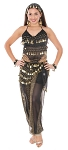 Belly Dancer Harem Genie Costume - BLACK / GOLD