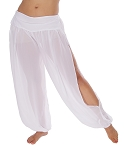 Belly Dancer Harem Pants - WHITE