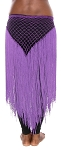 Triangle Crochet Belt with Long Fringe - PURPLE