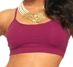 Comfy Criss-Cross Spaghetti Strap Dance Top - MAGENTA