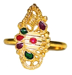Adjustable Bollywood / Belly Dancer Toe Ring or Finger Ring Assorted Shapes - GOLD