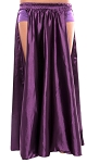 Satin Panel Circle Skirt for Belly Dancing - PURPLE PLUM