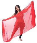 3-Yard Fine Chiffon Silky Lightweight Belly Dance Veil - RED