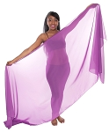 3-Yard Fine Chiffon Silky Lightweight Belly Dance Veil - PURPLE