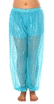 Sparkle Dot Belly Dancer Genie Costume Harem Pants - JASMINE TURQUOISE
