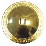 SAROYAN Grecian Finger Cymbals (large) - SET OF 4 - BRASS