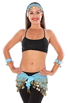 Belly Dance Basics Accessory Kit - BLUE TURQUOISE