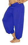 Comfy Stretch Harem Pants - BLUE