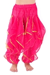 KIDS Endless Wave Bollywood Ruffle Harem Pants - ROSE PINK