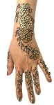 6-Piece Glitter and Beads Stick-On Henna Temporary Tattoo Set - GOLD