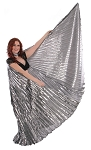 Closed Back Isis Wings Belly Dance Costume Prop - LIQUID METAL