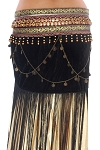 Arabia Coin & Fringe Velvet Dance Hip Scarf Belt