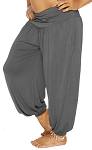 Comfy Stretch Harem Pants - GREY
