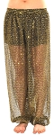 Sparkle Dot Belly Dancer Genie Harem Pants - BLACK / GOLD