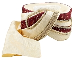 Royal Sultan Turban Mens Arabian Nights Headwear - BURGUNDY / GOLD
