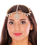 Crystals & Pearls Deluxe Maang Tikka Bollywood Belly Dance Headpiece