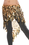 Paillette Triangle Shawl Belly Dance Hip Wrap Hipscarf - GOLD