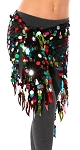 Paillette Triangle Shawl Belly Dance Hip Wrap Hipscarf - MULTI