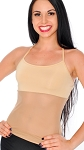 Stretchy Dance Top with Sheer Mesh Belly Cover - LIGHT NUDE