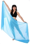 3-Yard Chiffon Veil for Belly Dance - BLUE TURQUOISE