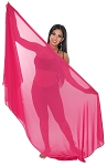 3-Yard Chiffon Veil for Belly Dance - ROSE PINK