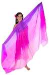 Ombre Silk Belly Dance Veil - PURPLE / FUCHSIA / PINK