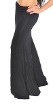 Stretchy Trumpet Mermaid Fusion Dance Skirt - BLACK