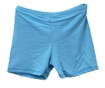 Kids Size Comfortable Stretchy Dance Shorts - TURQUOISE