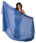 3-Yard Chiffon Veil for Belly Dance - BLUE