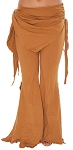 Tribal Fusion Belly Dance Yoga Pants - CARAMEL BROWN