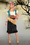 Women's Halloween Gypsy Pirate Costume - size S/M