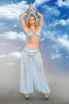 Heavenly Genie Belly Dancer Womens Halloween Costume - Sky Blue