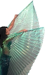 PETITE Closed Back Isis Wings Belly Dance Costume Prop - GREEN OPAL