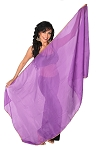 Petite Chiffon Belly Dance Veil with Sequin Trim - PURPLE / GOLD