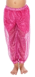 Little Girls Sparkle Dot Harem Pants - FUCHSIA