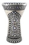 Doumbek/Tabla (Egyptian Drum) with Mother of Pearl Mosaic Inlays - ANDALUS