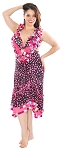 CAIRO COLLECTION: Pink & Black Polka Dot Melaya Leff Egyptian Dance Dress