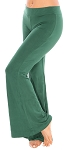 Flared Bottom Yoga Dance Pants - JADE GREEN