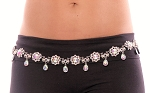 Crystal Rhinestone Belly Chain Dance Belt - AURORA BOREALIS