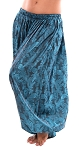 Brocade Full Pantaloons Tribal Harem Pants - TEAL / BLACK