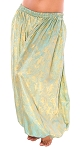 Brocade Full Pantaloons Tribal Harem Pants - VINTAGE GOLD / TURQUOISE