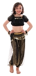 5-Piece Little Girls Arabian Princess Genie Kids Costume - BLACK