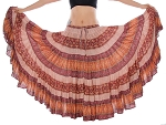 25 Yard Patterned Tribal Skirt - EARTH TONES